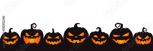 Fotomurales - halloween pumpkin on white background