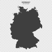 Fotomurales - vector map of Germany isolated on transparent background