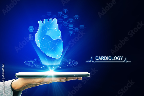 Fotomurales - Blue cardiology and future wallpaper