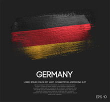 Fotomurales - Germany Flag Made of Glitter Sparkle Brush Paint Vector