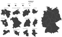 Fotomurales - political map of Germany isolated on white background
