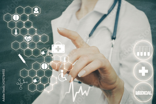 Fotomurales - Medicine and screen concept