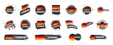 Fotomurales - Germany flag, vector illustration on a white background