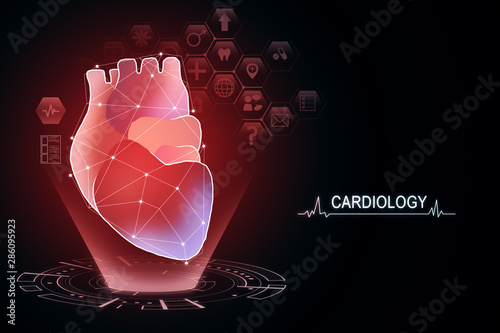 Fotomurales - Creative red heart interface background