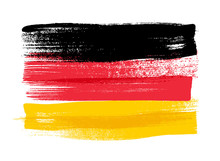 Fotomurales - Germany colorful brush strokes painted flag.