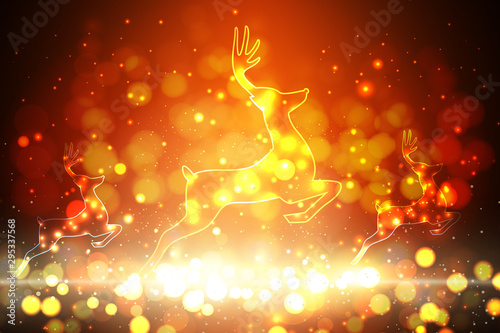 Fotomurales - abstract christmas background